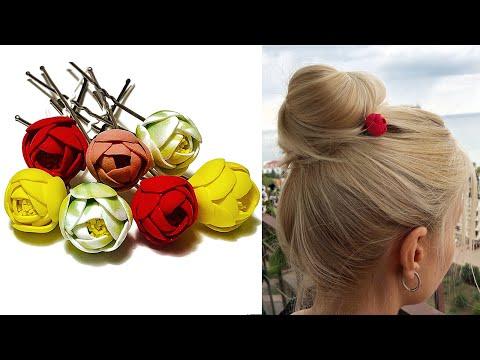 DIY how to make foam paper flower hair Pins - Hair Accessories - easy tutorial of foam Sheet Crafts