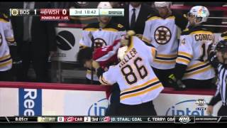 Kevan Miller fights Tom Wilson twice 10/2/15 (preseason)