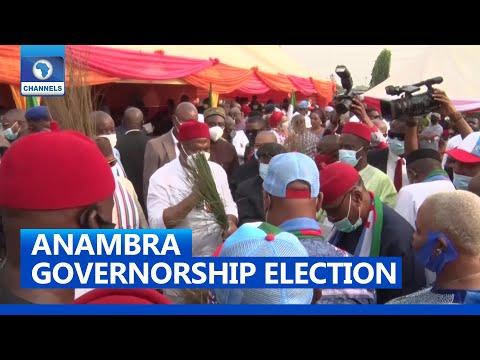 Uzodinma, Ngige, Nnamani Meet Party Members In Awka