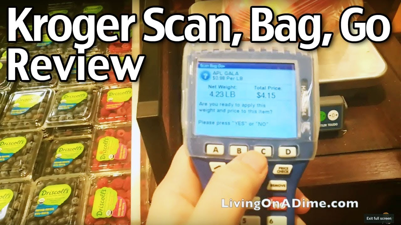 Kroger Scan, Bag, Go Review --- NOT GOOD!