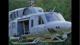 UH-1N Twin Huey RC customized scale helicopter 500 size T-rex500