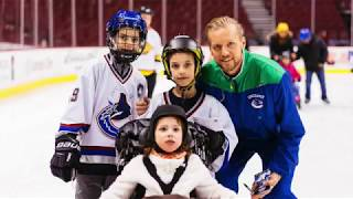 Canuck Place Families Skate with the Vancouver Canucks