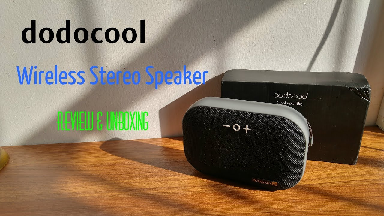 Dodocool Wireless Bluetooth Stereo Speaker Review & Unboxing [HD]