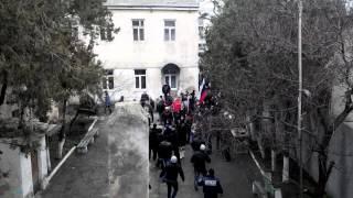 ПРОВОКАЦИЯ В ЕВПАТОРИИ!!С Исполкома неизвестный снял флаг России!
