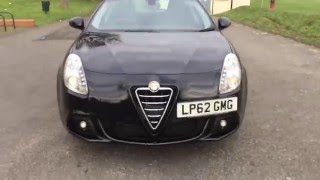 Black Alfa Romeo Giulietta 2 0 JTDM 2 Turbo Diesel Lusso 6 Speed Auto McCarthy Cars UK