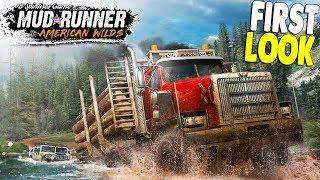 NEW | AMERICAN SPIN TIRES - Off-Road Logging Simulator | Mud Runner American Wilds DLC Gameplay