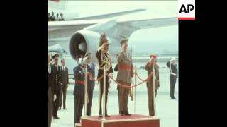 EMPEROR HAILE SELASSIE OF ETHIOPIA ARRIVES IN MADRID