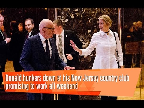 Donald hunkers down at his New Jersey country club promising to work.