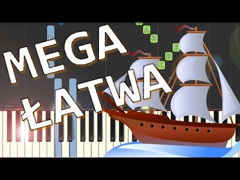 🎹 Bitwa (szanty) - Piano Tutorial (MEGA ŁATWA wersja) 🎹