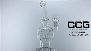 """CCG 9"""" Exosphere w/ Seed of Life Perc"""