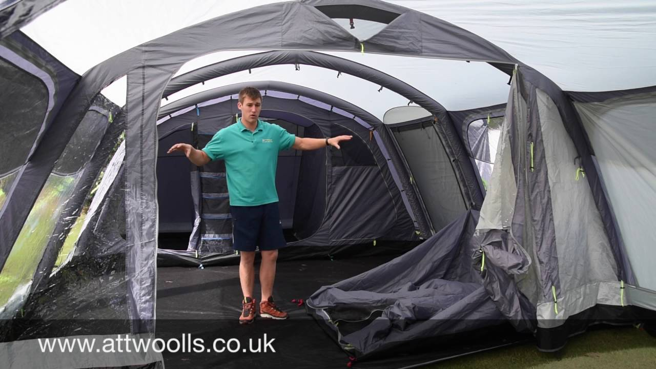 & Kampa Studland 8 Air Tent Review 2017 - YouTube