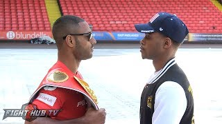 Kell Brook & Errol Spence dont back down at Face Off in Sheffield Field