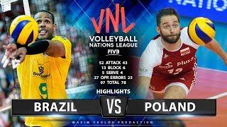 Brazil vs Poland   Highlights Men's VNL 2019