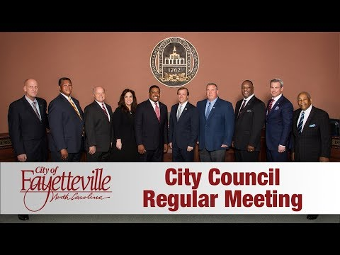 Fayetteville City Council Meeting 8 14 2017