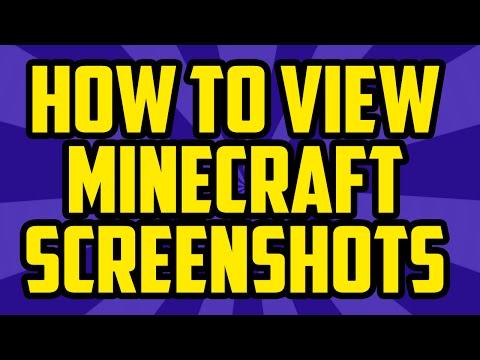How To View Your Minecraft Screenshots 2017 PC - Minecraft View Screenshot Folder 1.10