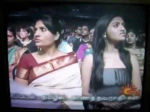 Actress Sunaina receving the ITFA Best Debutant Female Award  (2009)