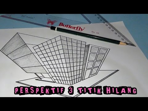Cara Menggambar Perspektif Tiga Titik Hilang Gambar Teknik Otomotif Youtube