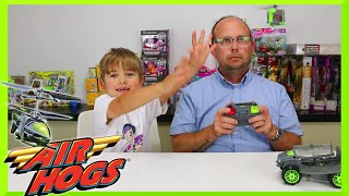 Air Hogs Shadow Launcher Remote Control Toy Car and Helicopter Unboxing and Play