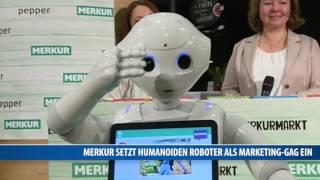 Merkur setzt humanoiden Roboter als Marketing-Gag ein