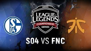 S04 vs. FNC  - Week 5 Day 1   EU LCS Spring Split    FC Schalke 04 vs. Fnatic (2018)