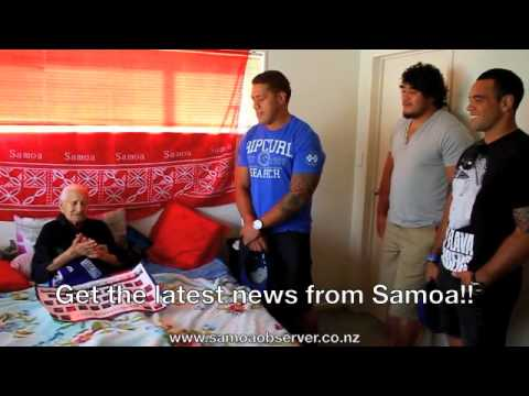 Manu Samoa Captains visits Fans!!