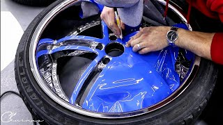 15 minutes How To Wrap Wheel Faces Like A Pro Using Gloss Riviera Blue To Match The Car