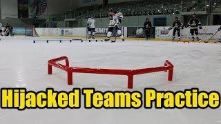 We Hijacked a hockey teams practice. Hockey Tutorial Coaches !?