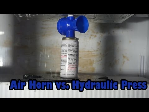 Air Horn Crushed By Hydraulic Press