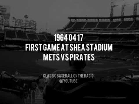 1964 04 17 First Game at Shea Stadium Mets vs Pirates Murphy Kiner Nelson