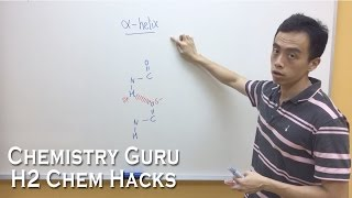 How to draw Alpha Helix for Secondary Structure of Proteins - H2ChemHacks
