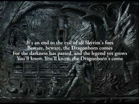 The Dragonborn Comes / Sons of Skyrim by Malukah (Dovah & English Lyrics)