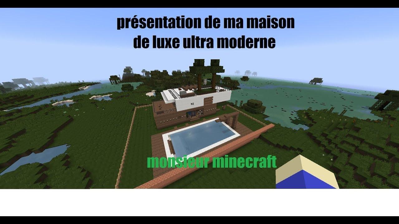 presentation maison de luxe ultra moderne monsieur minecraft youtube. Black Bedroom Furniture Sets. Home Design Ideas