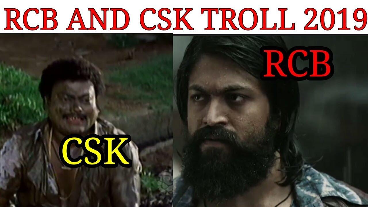 Rcb And Csk Troll 2019 Kannada Video Memes Youtube
