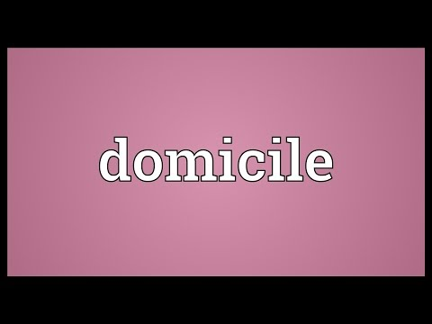 Domicile Meaning