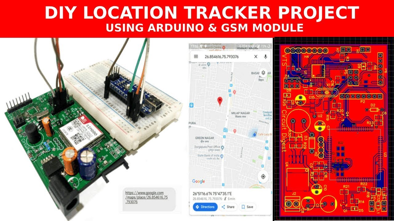 DIY Location Tracker using GSM SIM800 and Arduino