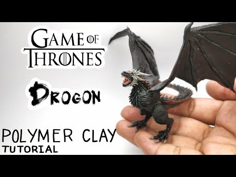 Drogon - Game of Thrones - Polymer Clay Tutorial 🔥🔥🔥 thumbnail