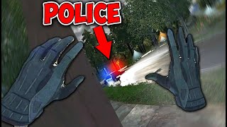 Getting Caught By POLICE Breaking Into A HOUSE IN VR! Thief Sim VR