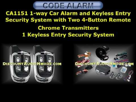 CA1151 $49.95 1-way Car Alarm and Keyless Entry Security System CA 1151