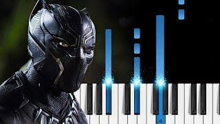The Weeknd Kendrick Lamar Pray For Me - Piano Tutorial Sheets - Black Panther The Album.mp3