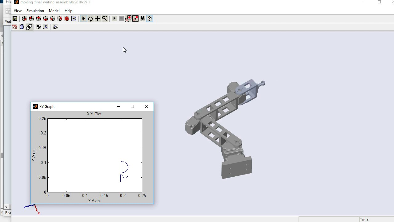 Simulation of Robotic Arm using MATLAB