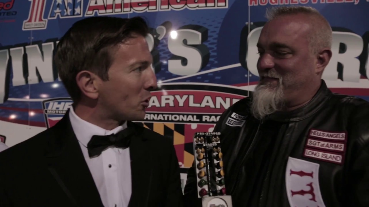 Hells Angel Wins Nitro Harley Class! Peter Geiss Reacts to Big Top Fuel  Dragbike Win!