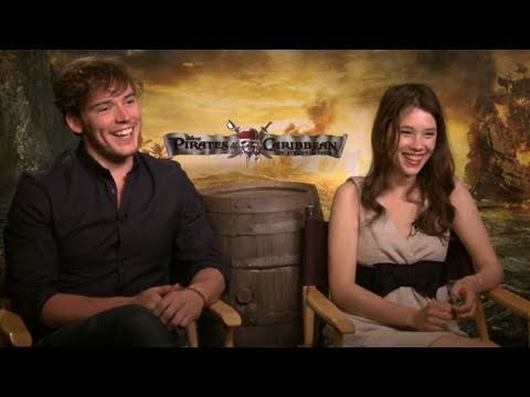 with the young stars of 'Pirates: On Stranger Tides'