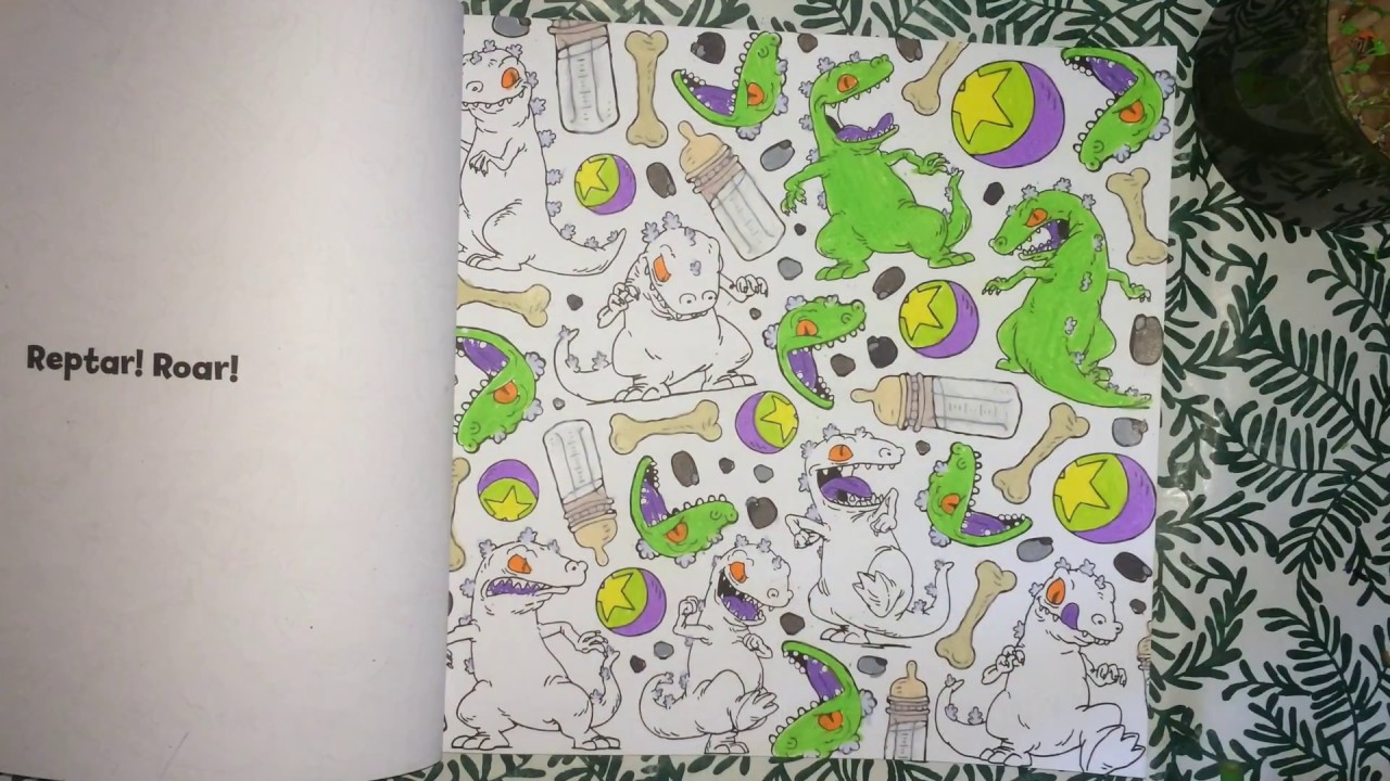 Color with me episode 64 the splat coloring the 90s nickelodeon time lapse prismacolor