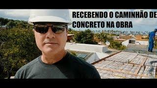 Engenharia: Recebendo um caminhão de concreto na obra