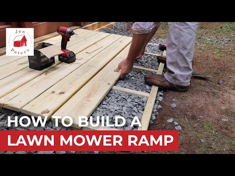 How to Build a Lawn Mower Ramp