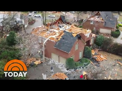 Deadly Tornadoes Tear Across South   TODAY