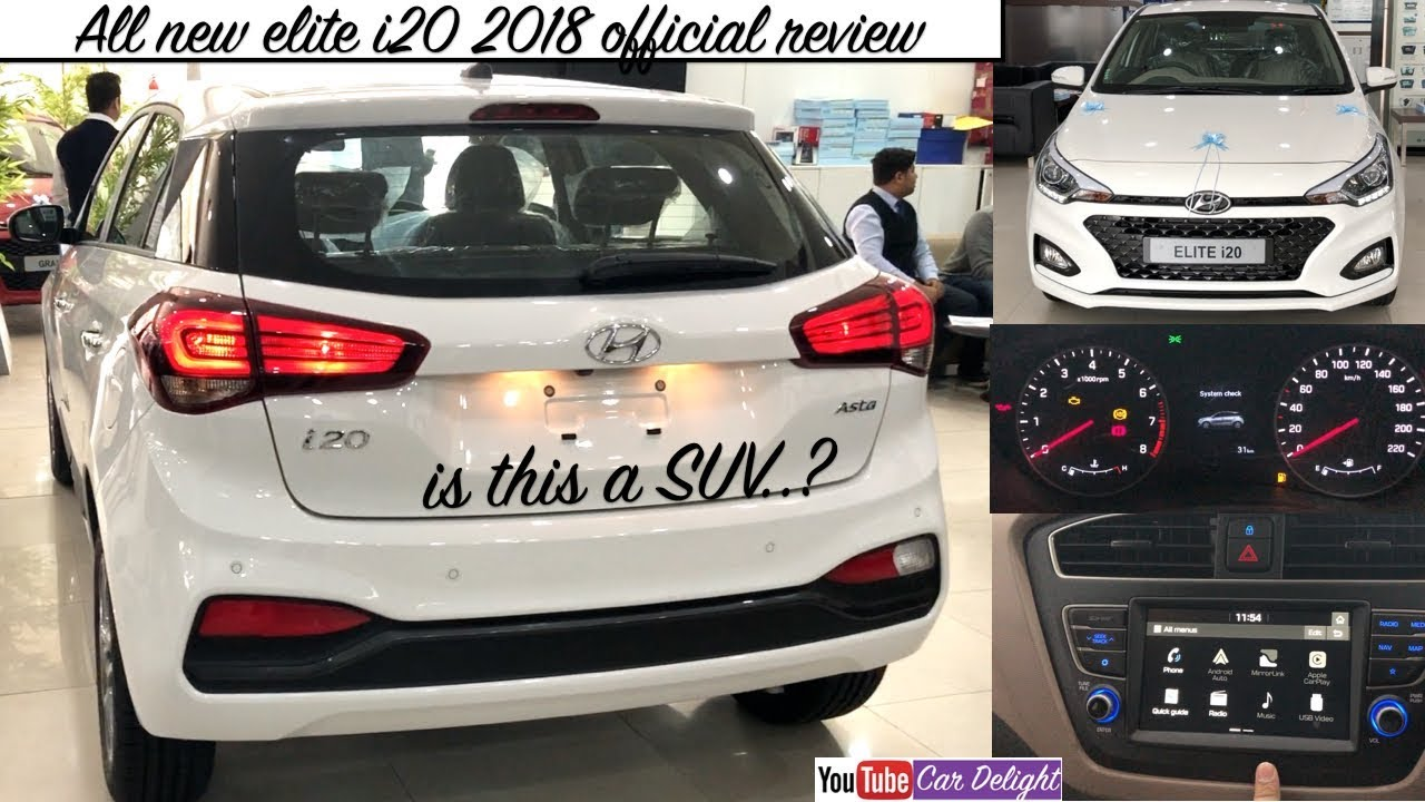 Hyundai Elite I20 2018 2018 Elite I20 Features Review I20 2018