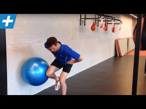 One Leg Ball Squat for VMO, Glutes and Knee stability ...