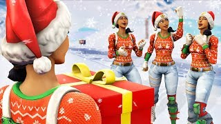 I gifted my whole Fortnite clan the Nog Ops skin...