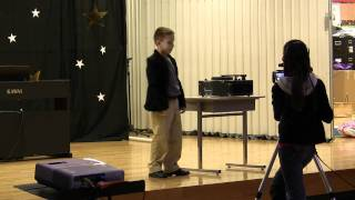 Repeat youtube video Mason performing the Andy Kaufman Mighty Mouse skit